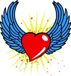 Herz mit Flügel (Herren)