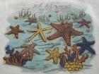 Einkaufstasche mit Effekt Motiv Starfish